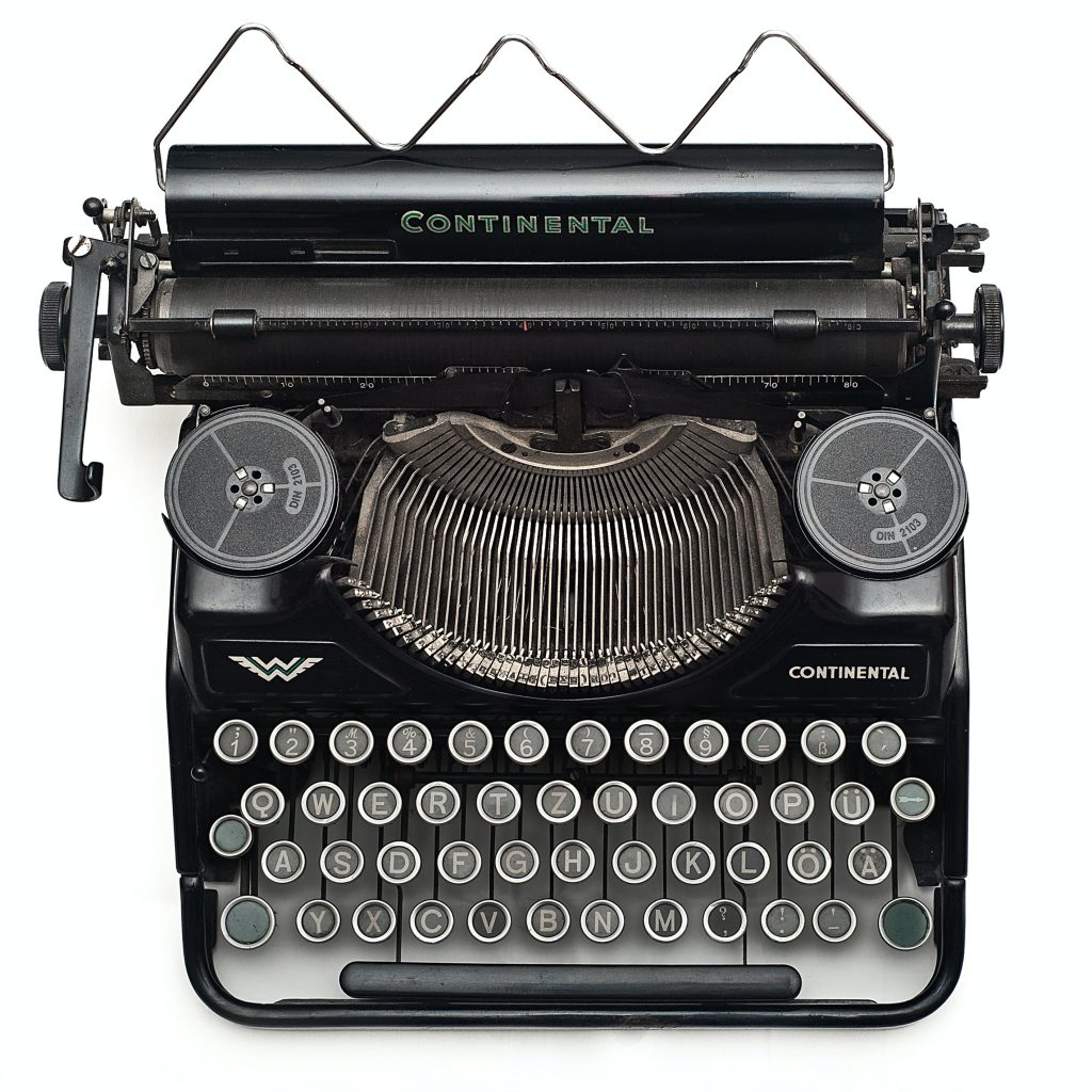 blog máquina de escrever